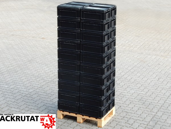 40 Lagerkästen Schäfer EF 4170 PP stapelbar + Deckel Lagerkästen Transportbox