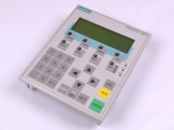 Siemens Simatic 6AV3 607-1JC20-0AX1 Bedienpanel Display OP7-DP
