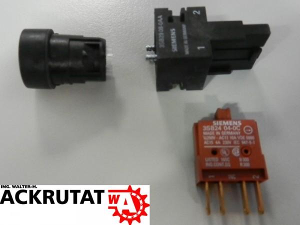 Siemens 2 Stück Drucktaster mit flachem Druckknopf rot 3SB22 03-0AC01