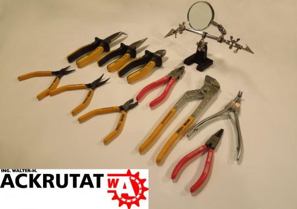 Werkzeug Set Zangen Kombizange Seitenschneider 11 Teile Flachzange ORBIS