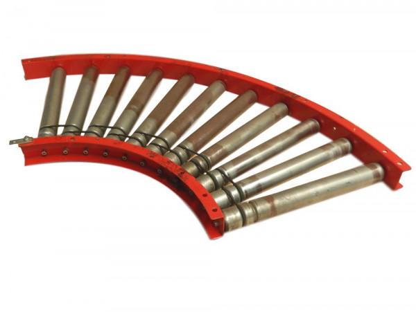 Rollenkurvenförderer Kurvenband Rollbahn Kurvenförderband Rollenbahn Kurve