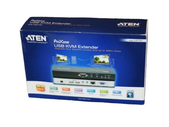 Aten CE770 VGA, Klinke, USB 2.0 Verlängerung 300 m RS232 KVM Extender Proxime