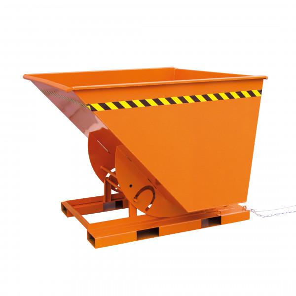 Abrollkufen-Kippbehälter 2013 in orange lackiert
