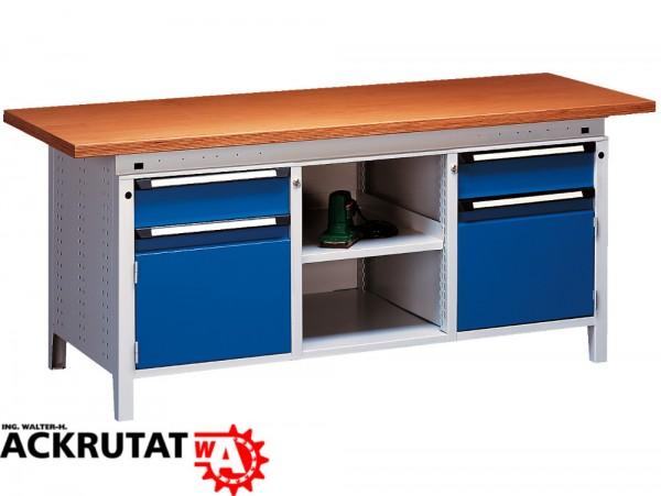 werkbank jens blau arbeitsplatz packtisch arbeitsplatte. Black Bedroom Furniture Sets. Home Design Ideas