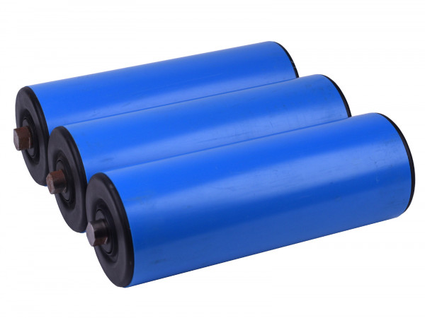 3x Tragrolle für Rollenbahn Kunststoffrolle Länge 250 mm Normrolle Ø 90 mm