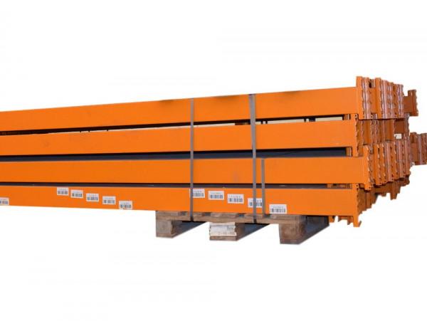 80x Tegometall Traverse Holm Palettenregal LW3600 Hochregal H130 orange