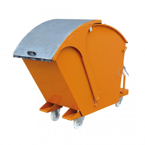 Kippbehälter mit Runddeckel 2026 in orange lackiert