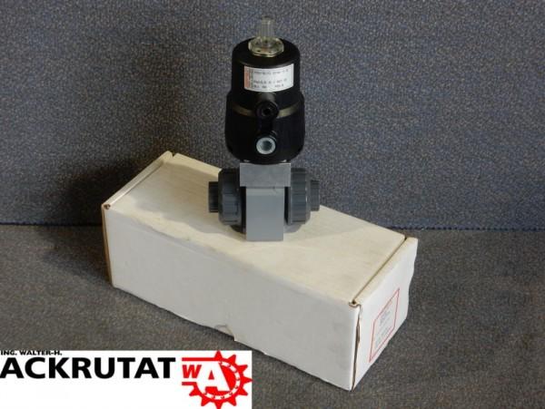 Kugelhahn Gemü Typ 710 pneumatisch Kolbenantrieb Optische Stellungsanzeige