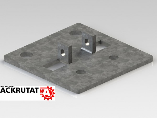 2 Meta Palettenregal Regal Rahmen Ständer Fuß Füße Fußplatte Typ S multipal