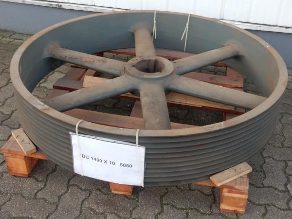 Riemenscheibe Keilriemenscheibe 10-Rillig TBC 1400 x 10 für Taper Buchse 5050