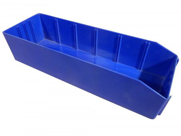 6x Bito Sichtlagerkästen 130 x 390 x 90 mm (BxTxH) PK 4130-31, blau, stapelbar, 4,2 l Volumen