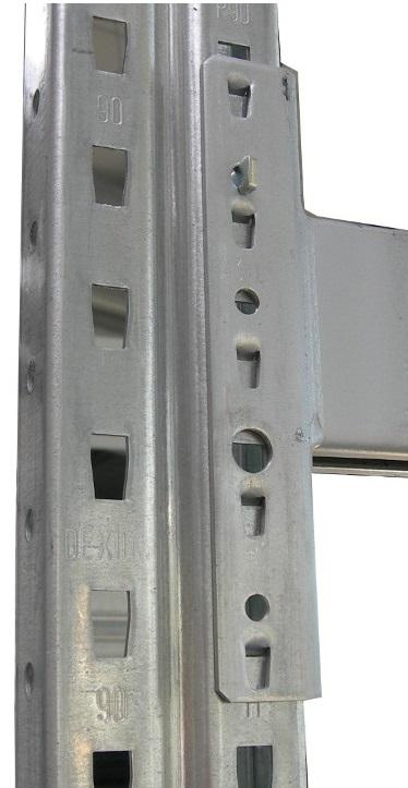 dexion p90 Palettenregal Rahmen Profil Raster Lochmuster