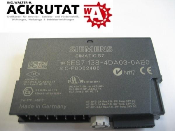 Siemens Simatic S7 6ES7 138 4DA03 0AB0 Steuerung analog
