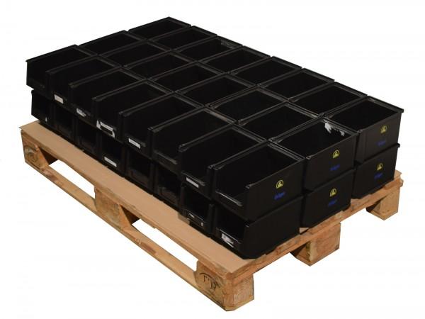 48x UTZ Silafix Lagerkiste ESD Regalbox Kasten Sichtlagerkasten stapelbar