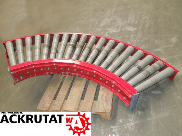 Klinkhammer 90° Rollenbahnkurve Förderbandkurve Rollenkurvenförderer Rollenbahn