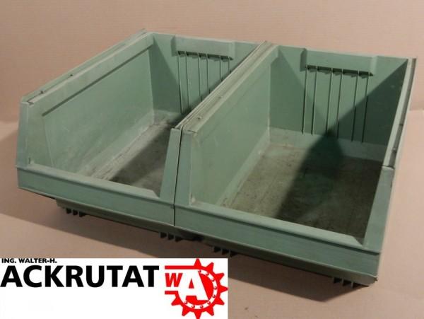 2 x Arca 9072 Lagersichtkästen Regalkisten Lagersichtkasten Kisten Boxen Behälter