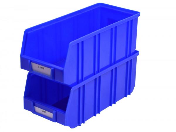 blaue Sichtlagerkiste Regalkasten Lagersichtkasten Regalkiste