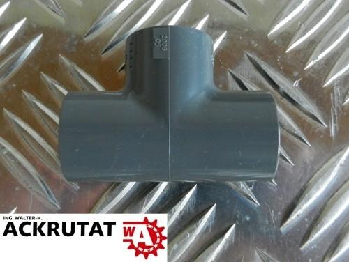 10 Stück GF Georg Fischer T-Stück 90° PVC d20 mit Klebemuffen metrisch
