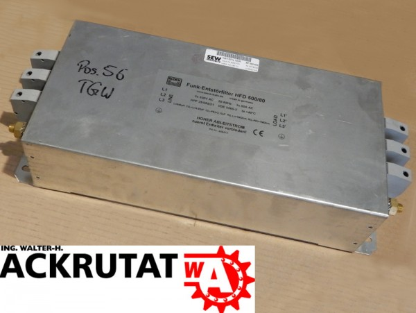 Netzfilter SEW-Eurodrive NF 080-503 Funk-Entstörfilter HFD 500/80 Filter
