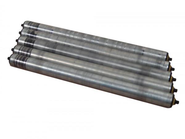 5 Interroll L630 Tragrollen Förderband Rolle Normrolle Förderrolle starre Achse
