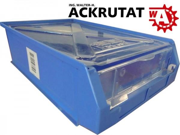 4 Stk. Schäfer LF 531 Lagersichtkasten Sichtlagerbox Deckel Kiste Box