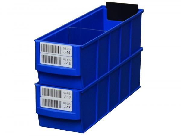 192x BRB Regalkasten 91 x 300 x 81 mm (BxTxH), blau stapelbar Kleinteilekiste