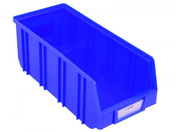 300x Sichtlagerkästen 145 x 335 x 125 mm (BxTxH), blau, stapelbar, 6 l Volumen