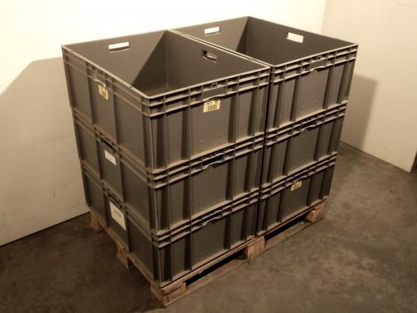 6x Lagerkiste Industriebox Stapelkiste