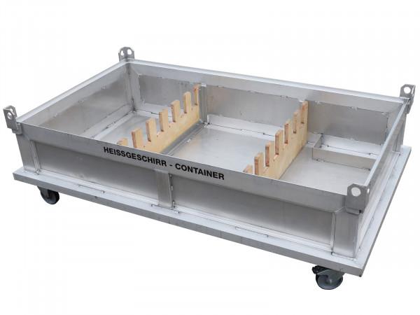 Aluminium Transportcontainer fahrbar 2.620x1.530x845 mm (LxBxH) Rollcontainer