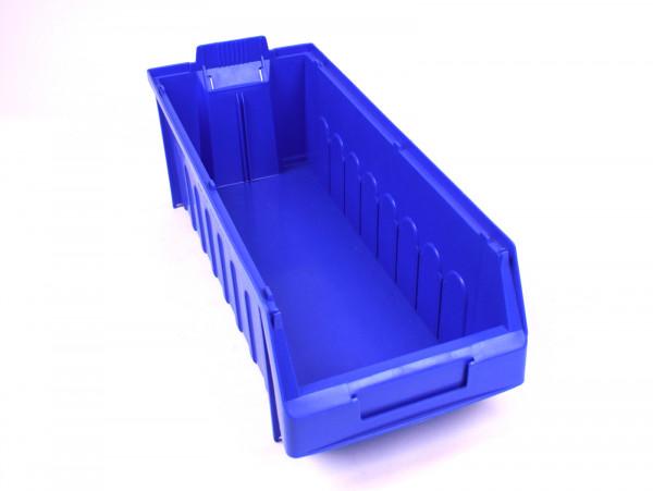 126x Dexion 1845 Sichtlagerkästen 185 x 450 x 145 mm (BxTxH), blau, stapelbar, Etikettenhalter