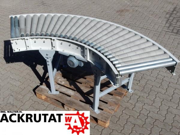 90° Förderkurve angetrieben Rollenbahnkurve Breite 630 mm Kurvenförderer 1,53m/s