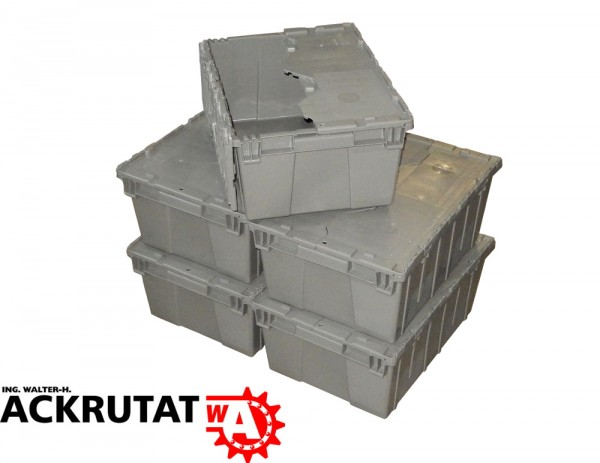 Stapelbox 5 Orbis FP143 Deckelbox Stapelbehälter Kunststoffbehälter Lagerbox
