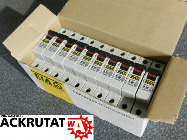 EIA 10 Stück Leitungsschutzschalter FE 40-1 B20 Leitungsschalter Schalter