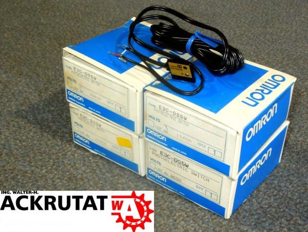 4er Set Omron Fotoelektrischer Schalter mit Kabel E3CDS5W Infrarot Sensor