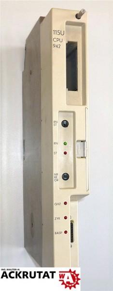 Siemens Simatic S5 6ES5 942-7UA12 115U CPU 942 Modul