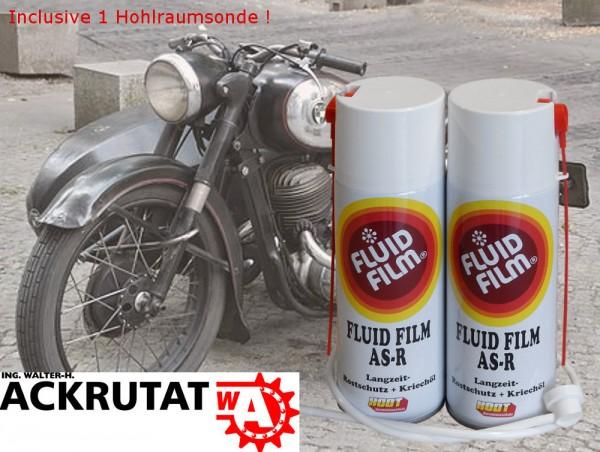 2 St. Fluid Film AS-R 400 Motorrad Rostschutz Zweirad Korrosionsschutz Winter