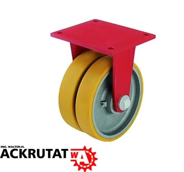 Blickle Doppelbockrolle Schwerlast-Doppel-Bockrolle Rolle BSD-GTH 202K Ø 200 mm