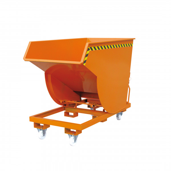 Schwerlast-Kippbehälter 2015 in orange lackiert