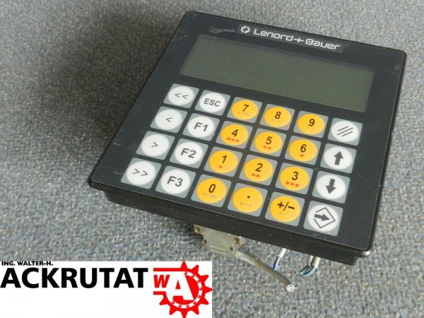 Lenord+Bauer GEL 88100D1 Bedienpanel Display Anzeige Steuerpanel Steuerung