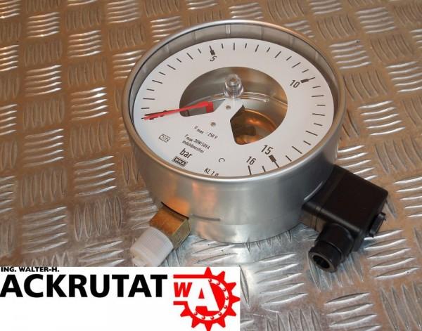 Wika 212.20.160 Manometer Druckmeßgerät mit Kontakteinrichtung Grenzsignalgeber