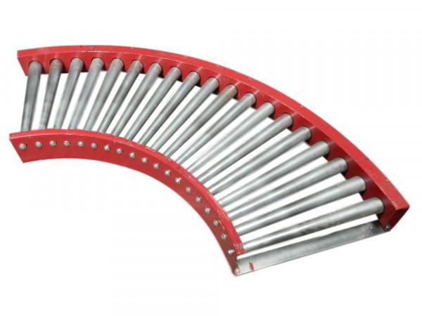 FAS Rollenbahnkurve 90° Rollenkurvenförderer Rollenbahn Kurve Kurvenförderer