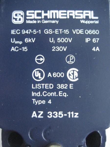 Sicherheitsschalter Schmersal AZ 335-11z IEC947-5-1 GS-ET-15 VDE 0660
