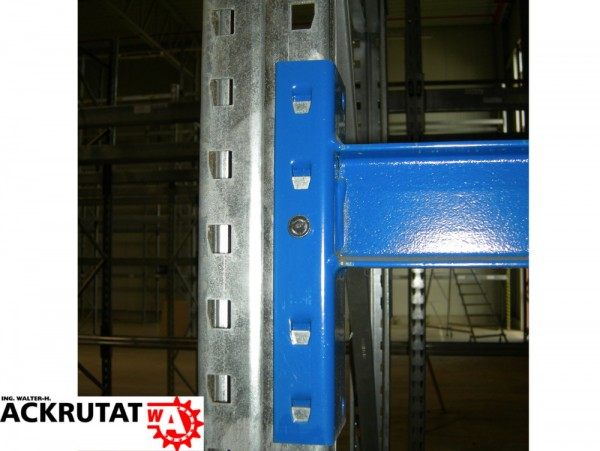 20x Traverse 2700 mm Schäfer Palettenregal Balken Regal INP Profil blau PR600