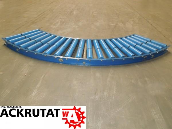 Schwerkraftrollenbahnkurve 90° Rollenbahnkurve Rollenkurvenförderer Rollenbahn
