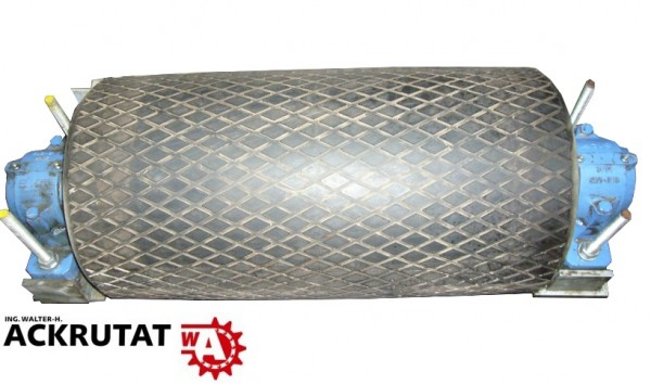 Umlenktrommel Stahltrommel Förderband Trommel Walze RL=650 mm Ø 335 mm