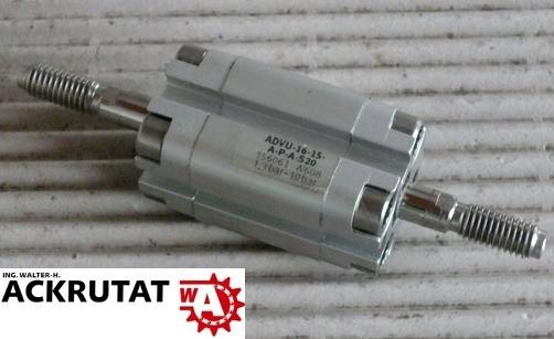 Festo Kompaktzylinder ADVU-16-15-A-P-A-S20 156061 W608 Hub Kolben Zylinder