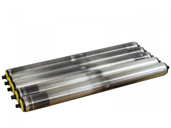 5x Interroll Tragrolle RL 440 mm Stahlrolle Ø 50 mm Transportrolle Normrolle