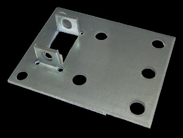 2x Dexion P90 Palettenregal Rahmen Fußplatte 110x140 mm