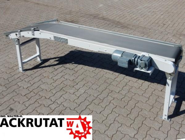 Trapo Steigförderer Förderband L 2800 mm Rillengurtförderer Gurtbreite 340 mm