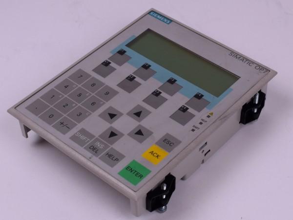 Siemens Simatic Operator Panel OP 7-DP 6AV3 607-1JC20-0AX1 Bedienpanel E03